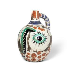 Pablo PICASSO - Ceramic - Visage avec nez noir
