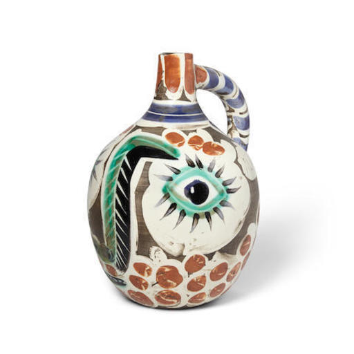 Pablo PICASSO - Ceramiche - Visage avec nez noir