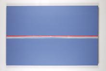 Geneviève ASSE - Pintura - Sans titre (ligne rouge)