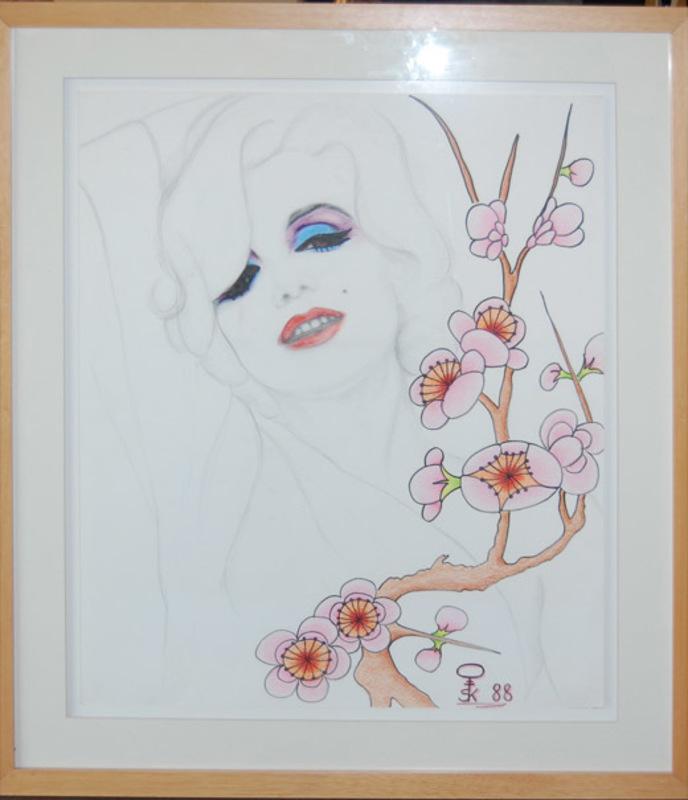 Steven KLUCHIK - Drawing-Watercolor - Portrait of Marylin Monroe