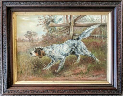 John Martin TRACY - Pittura - Setter in a Landscape