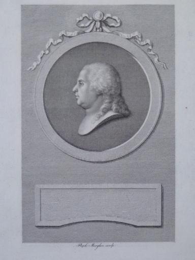 Raphael MORGHEN - 版画 - Portrait du Comte de Provence, Futur Roi Louis XVIII