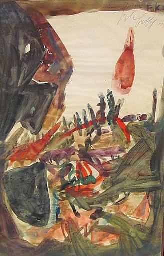 Friedrich Karl GOTSCH - Drawing-Watercolor - Im Sturm.