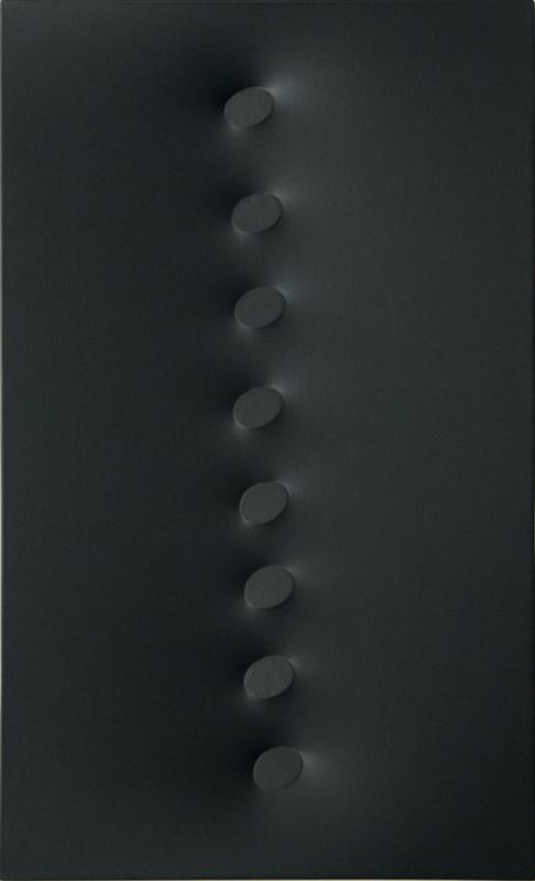 Turi SIMETI - Pittura - 8 ovali neri