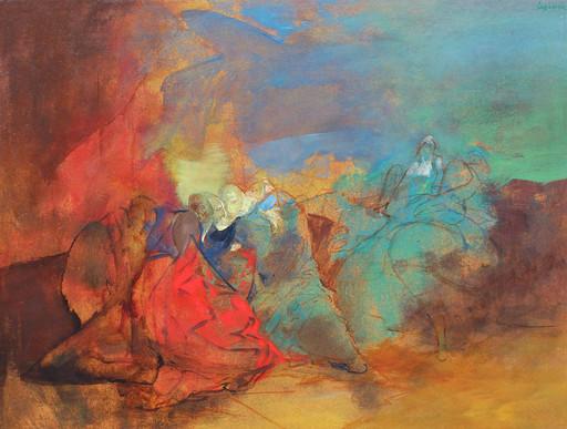 Philippe LEJEUNE - Painting - Jacob chez Laban