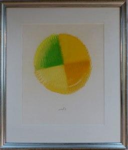 Heinz MACK - Drawing-Watercolor - Sonne