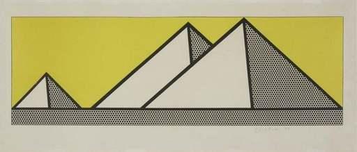 Roy LICHTENSTEIN - Stampa Multiplo - Pyramids