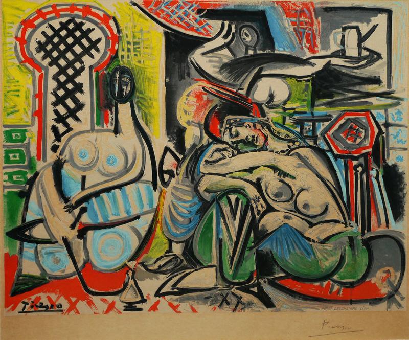 Pablo PICASSO - Estampe-Multiple - L'heritage de Delacroix