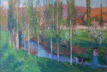 亨利•马丁 - 绘画 - La Vallée du Vert, la chèvriere