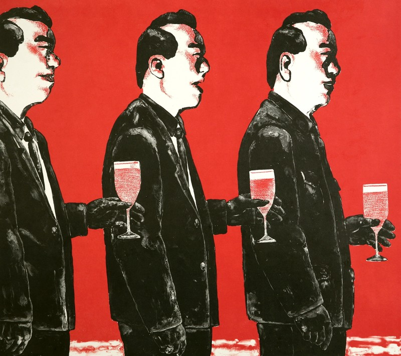 SU Xinping - Print-Multiple - Comrade and Toast Series No. 4