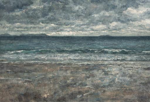 André BOUBOUNELLE - Painting - La mer par temps gris