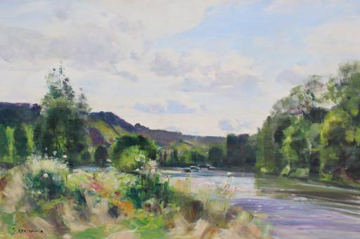 Gaston SEBIRE - Painting - Bord de Seine