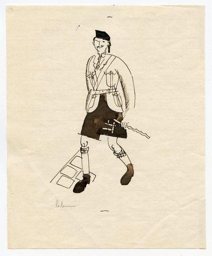 Jean Émile LABOUREUR - Dibujo Acuarela - DESSIN ORIGINAL ENCRE SURPAPIER SIGNÉ HANDSIGNED INK DRAWING