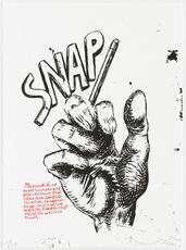 Raymond PETTIBON - Grabado - Untitled (Snap...), from Plots on Loan I