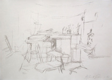Alberto GIACOMETTI (1901-1966) - Studio with Bottles