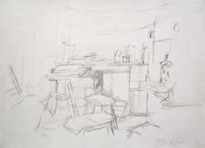 Alberto GIACOMETTI, Studio with Bottles