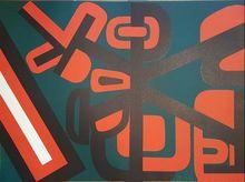 Jean DEWASNE - Estampe-Multiple - abstraction géométrique