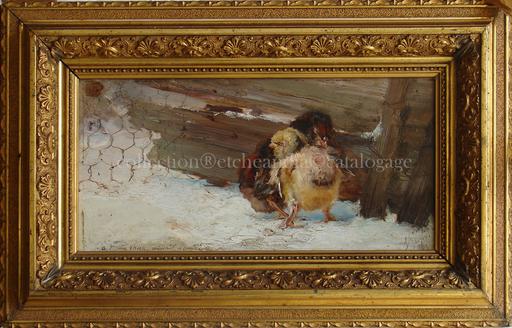 Alejandro SEIQUER - Gemälde - poussins - polluelos -Murcia