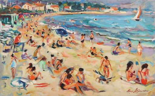Max AGOSTINI - Pintura - La plage