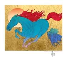 Guillaume A. AZOULAY - Estampe-Multiple - Equus