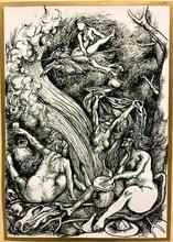 Renato GUTTUSO - Drawing-Watercolor - D'apres Fuchs Omaggio a Durer