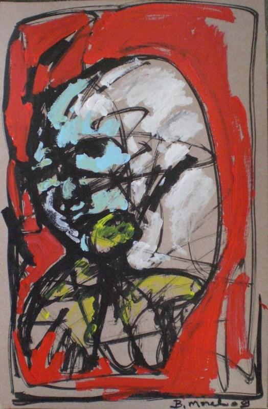 Bernard MOREL - Peinture - TETE