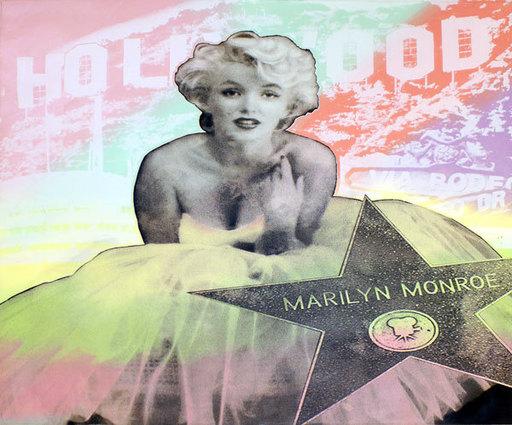 Steve KAUFMAN - Pintura - Hollywood Marilyn
