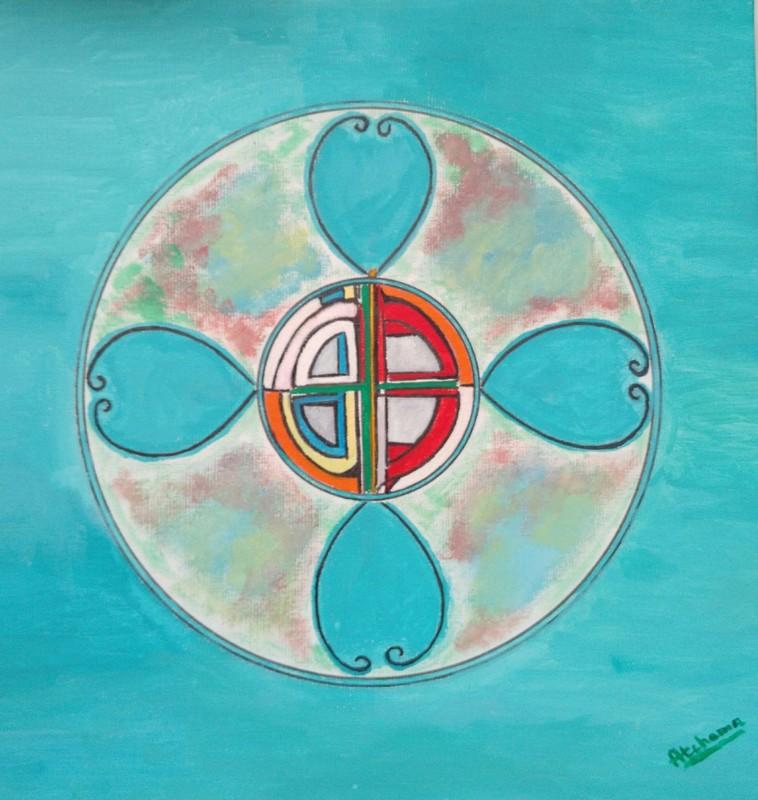 ATCHAMA - Painting - fleur de maitrise