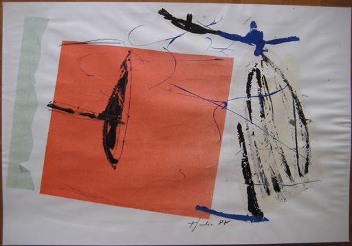 Tony SOULIÉ - Drawing-Watercolor - TECHNIQUE MIXTE PAPIER 1987 SIGNÉ HANDSIGNED MIXED TECHNIC