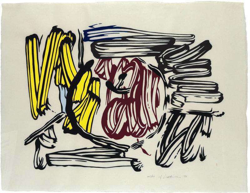 Roy LICHTENSTEIN - Stampa-Multiplo - Red & Yellow Apple
