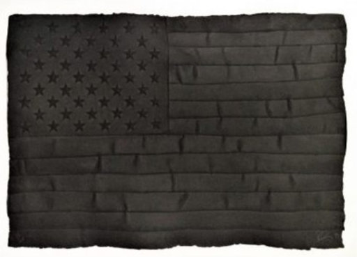 Robert LONGO - Painting - Black Flag