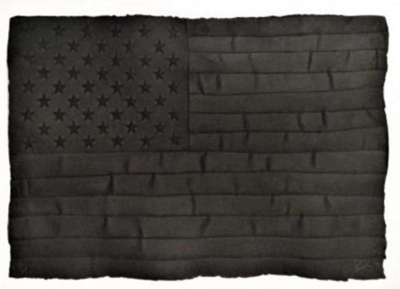 Robert LONGO - Painting - Black Flag