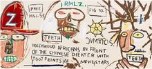 Jean-Michel BASQUIAT (1960-1988) - Hollywood Africans in Front of the Chinese Theater