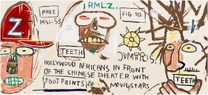 Jean-Michel BASQUIAT - Stampa Multiplo - Hollywood Africans in Front of the Chinese Theater