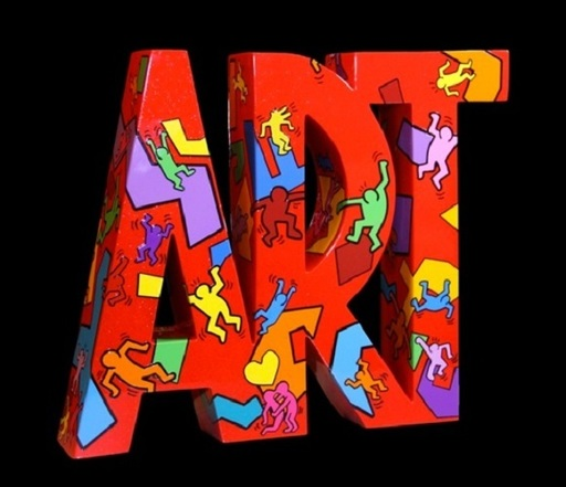 """F&G - Escultura - Art """"Moving"""" Keith Haring"""