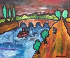 Christian DURIAUD - Pintura - The lovers