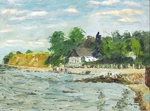 Walter BRÜGGMANN - Painting - Steilküste bei Niendorf an der Ostsee.