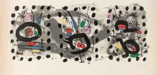 Joan MIRO - Print-Multiple - Oiseau solaire/Oiseau lunaire/Etincelles