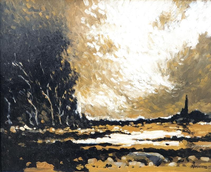 Henri APRIN - Peinture - paysage