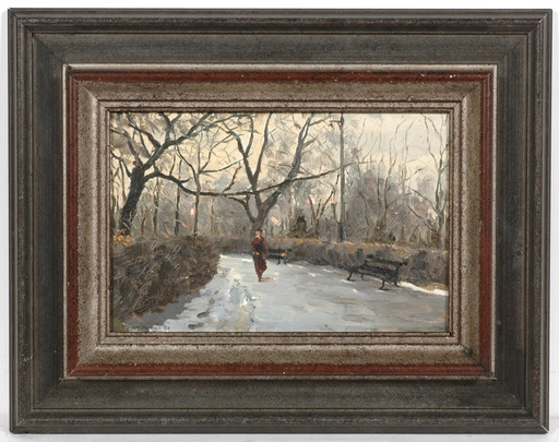 "Vladimir M. SINITSKI - Painting - ""Park Motive"", 1950, Oil"