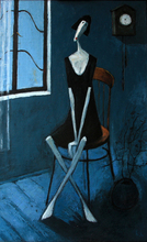 "Ramaz ROSTOMASHVILI - Peinture - ""Wife sitting by the window"""