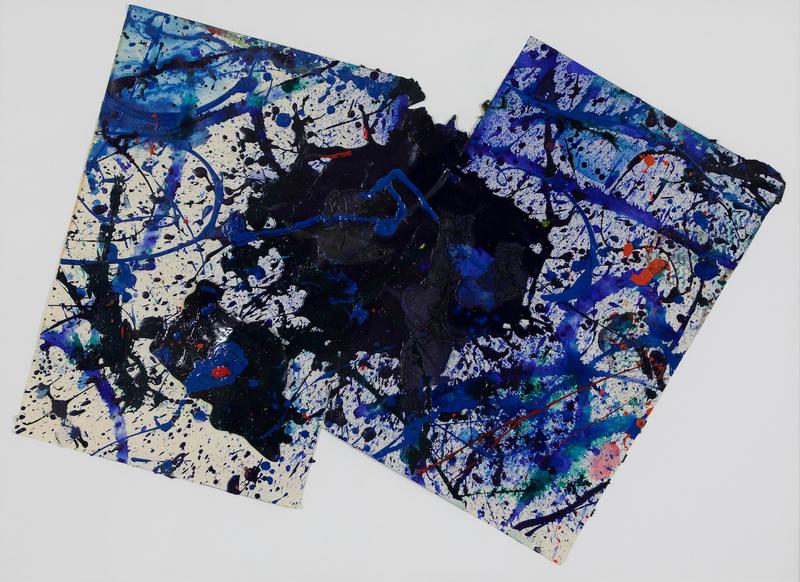山姆•弗朗西斯 - 水彩作品 - Composition