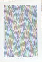 Bridget RILEY - Estampe-Multiple - Elapse, 1982