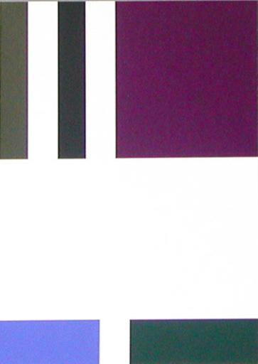 Aurélie NEMOURS - Grabado - Partage au violet