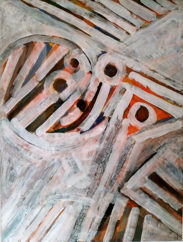 Jacques GERMAIN - Dibujo Acuarela - abstraction