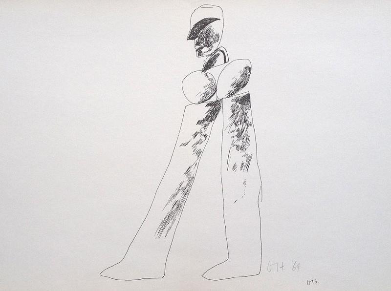 David HOCKNEY - Estampe-Multiple - Walking man