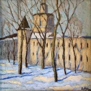 Valeriy NESTEROV - Pintura - Andronikov Monastery. Moscow