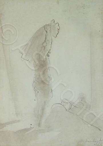 John Lockwood KIPLING - Drawing-Watercolor - Dhobi Wallah