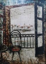 ARGÜELLES - Pintura - Balcón al mar
