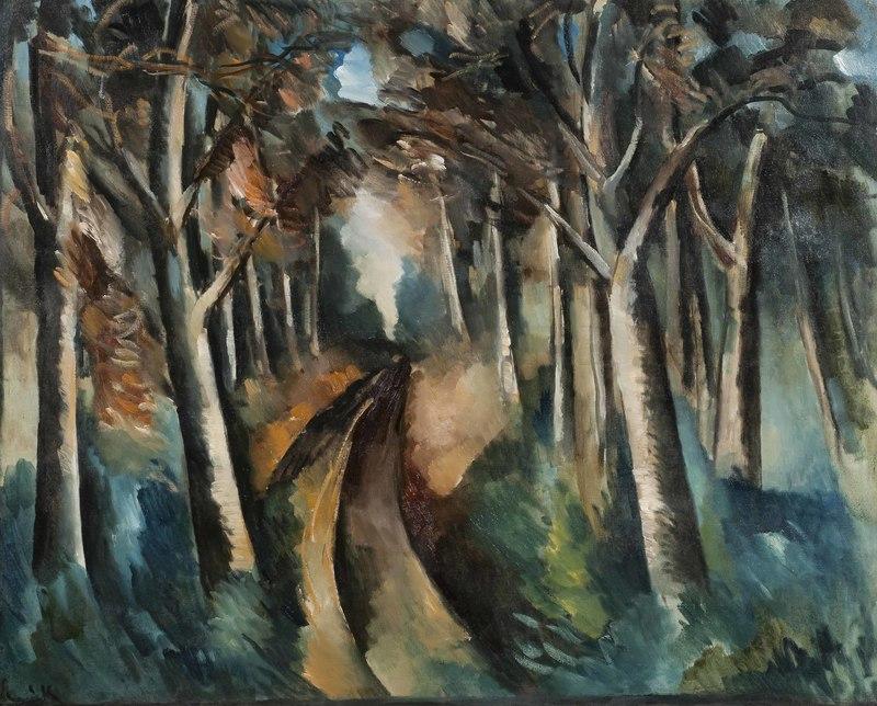 Maurice DE VLAMINCK - Painting - Bois à La Jonchère
